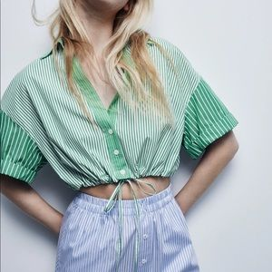 NWT Zara Crop Top 💚